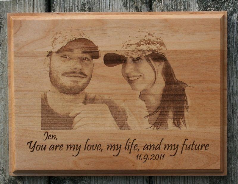 Couple Portrait Engraved on Alder #love #memories #woodengraving ...