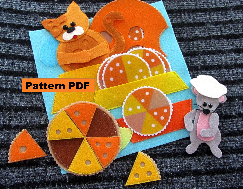 Pizzeria PDF Pattern & tutorial Quiet Book StepbyStep