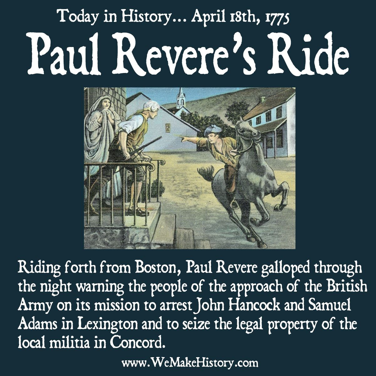 Today In History April 18th Paul Revere S Ride