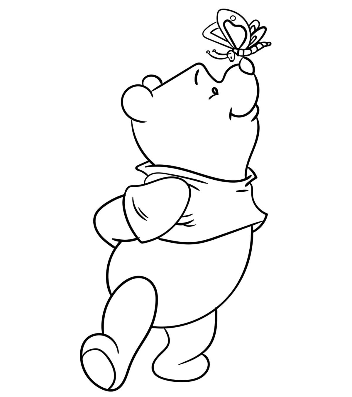 Top 30 Free Printable Cute Winnie The Pooh Coloring Pages