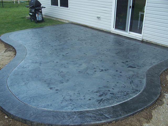 Acid Stained Concrete Patio | ... Depot Concrete Stain Diy Stained Concrete  Patio Clean Concrete Patio