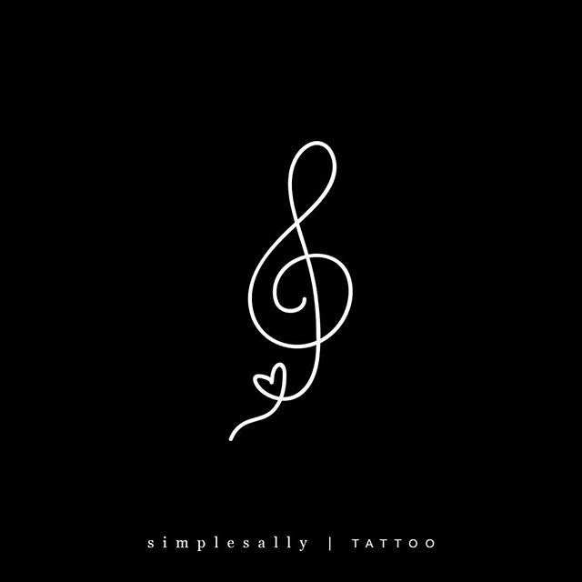 """Photo of Lettering for tattoos + logos on Instagram: """"Request : G clef, Simple Sally style 😍 Pretty cool request!! For Karin and her love of music. . . . #inkedup #simplesally #prettytattoo…"""""""
