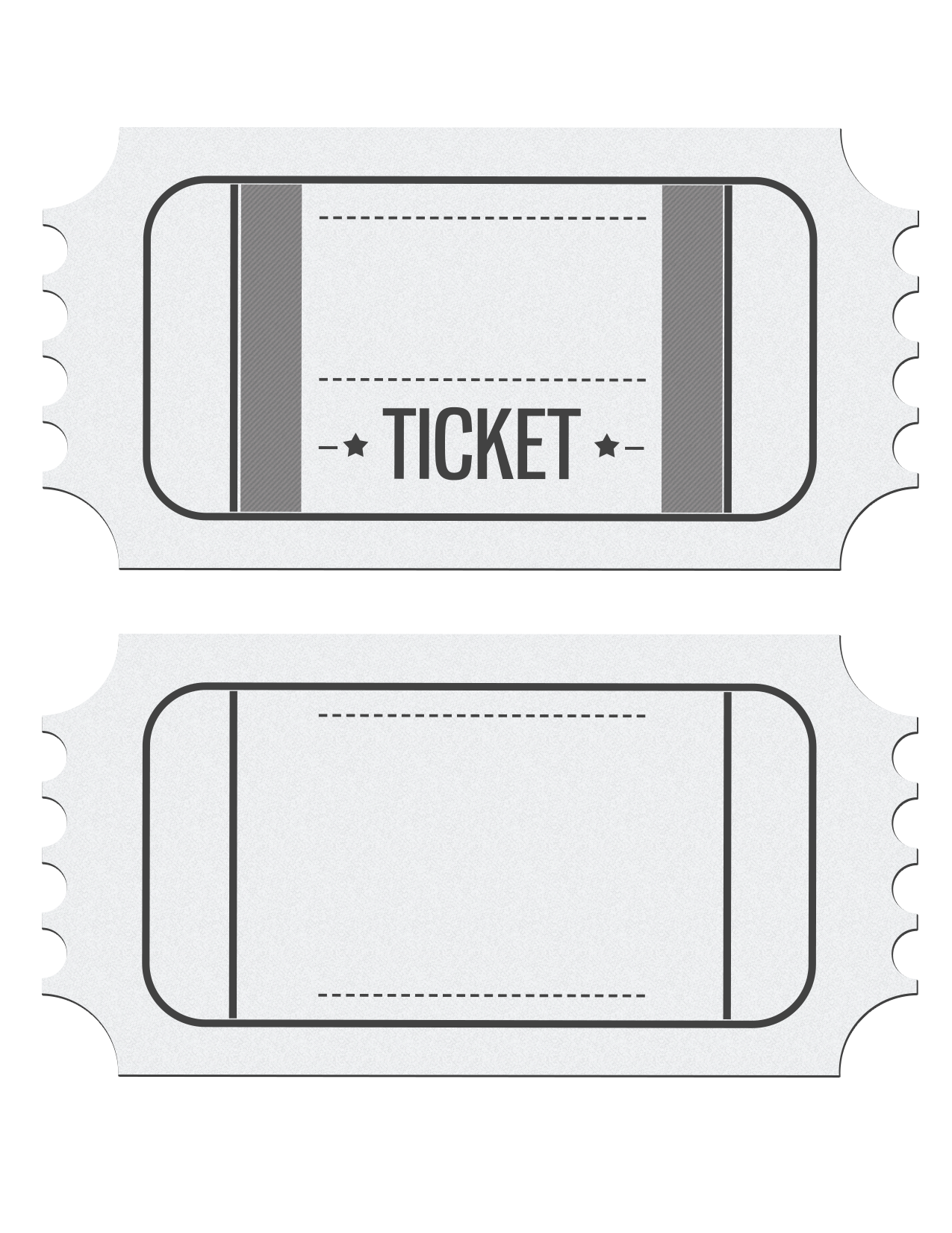 Blank Movie Ticket Invitation Template – Printable Ticket Invitations