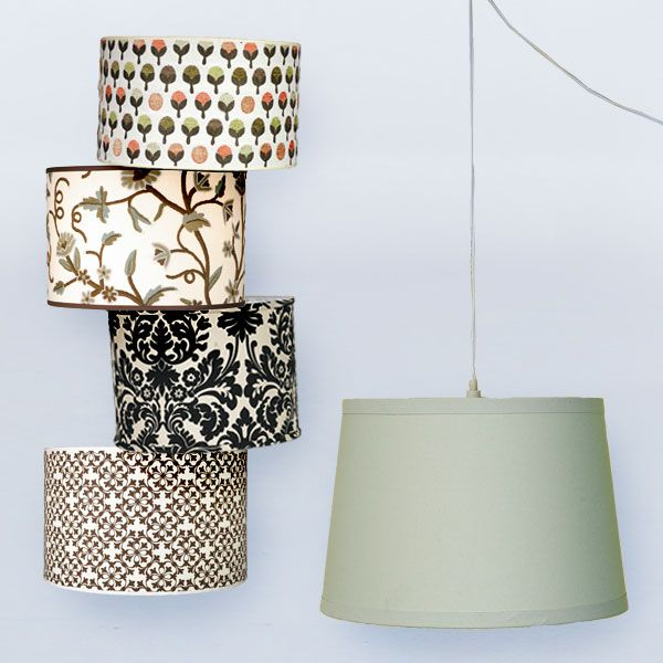 Drum Shades For Pendant Hanging Lights And Cord And Plug   Convert Your  Favorite Lampshade