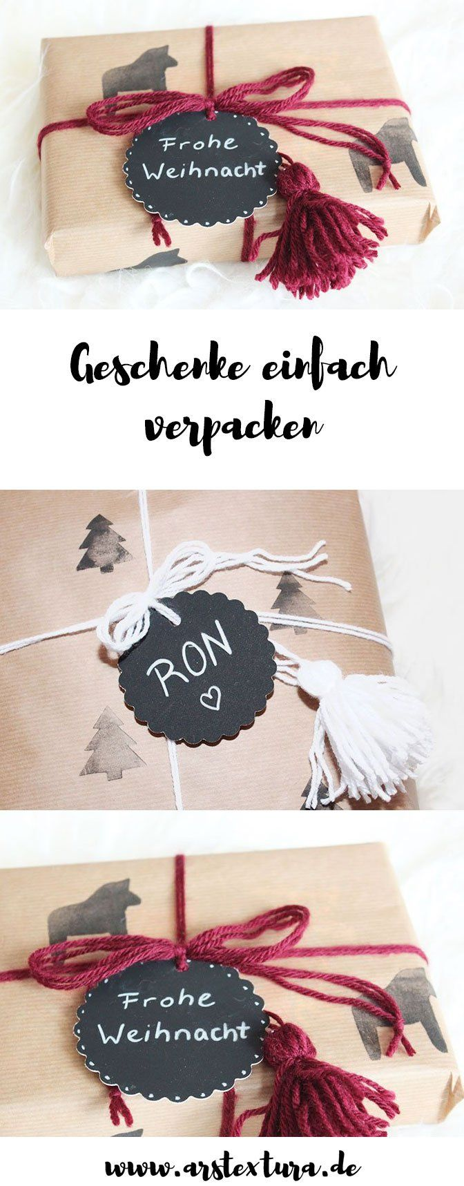 DIY Anleitung: Geschenke kreativ verpacken mit Packpapier