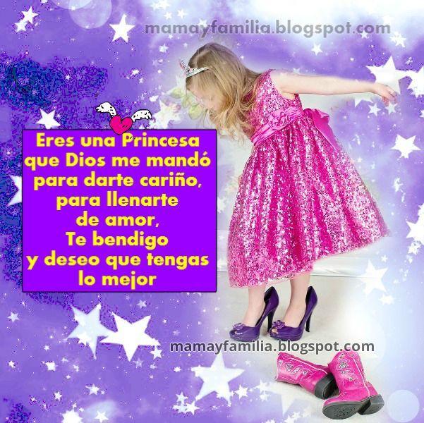 Tarjeta Para Mi Princesita Princesa Feliz Dia Rica Pinterest