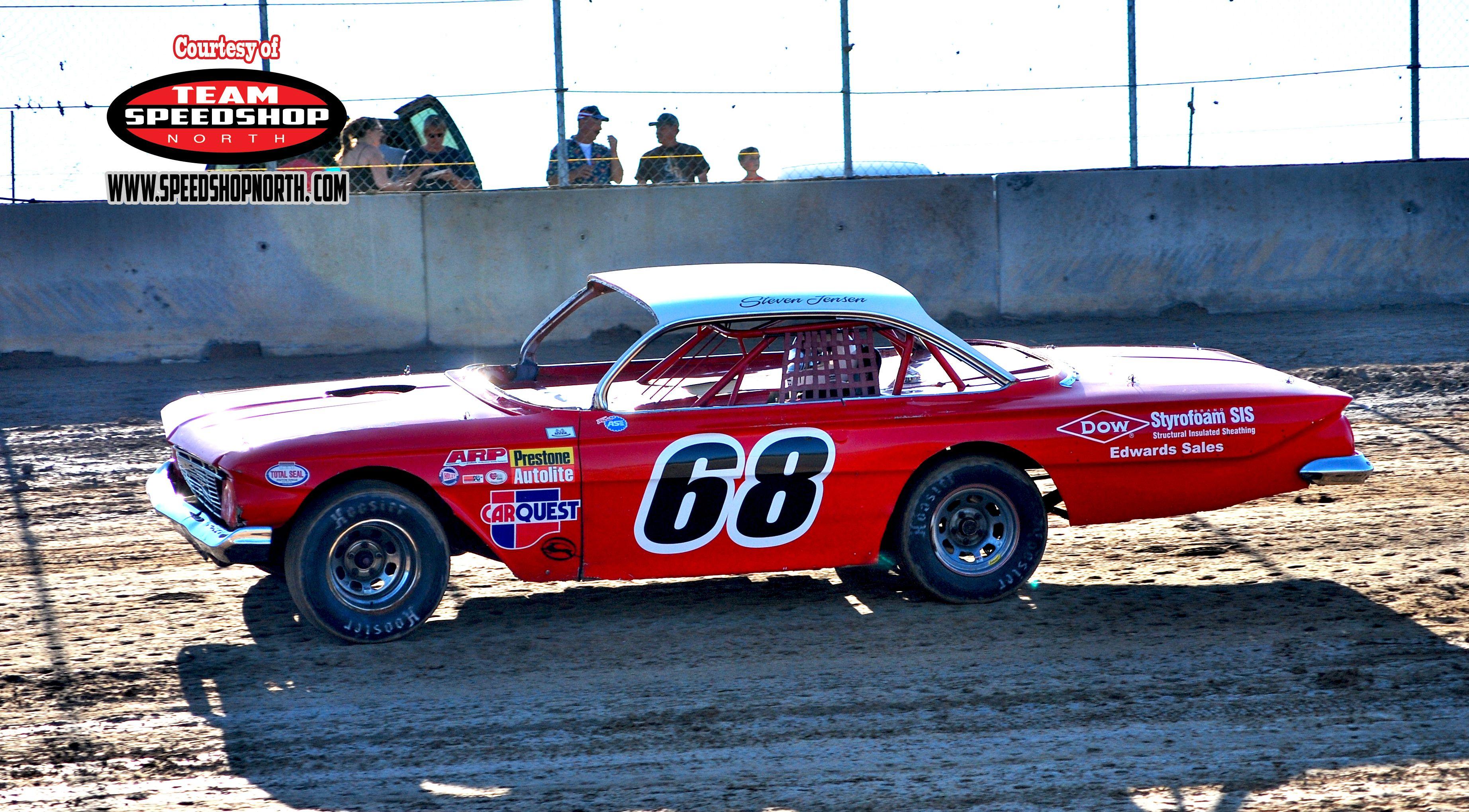 Dirt Track Race Cars: Vintage Dirt Car #68 Race Car