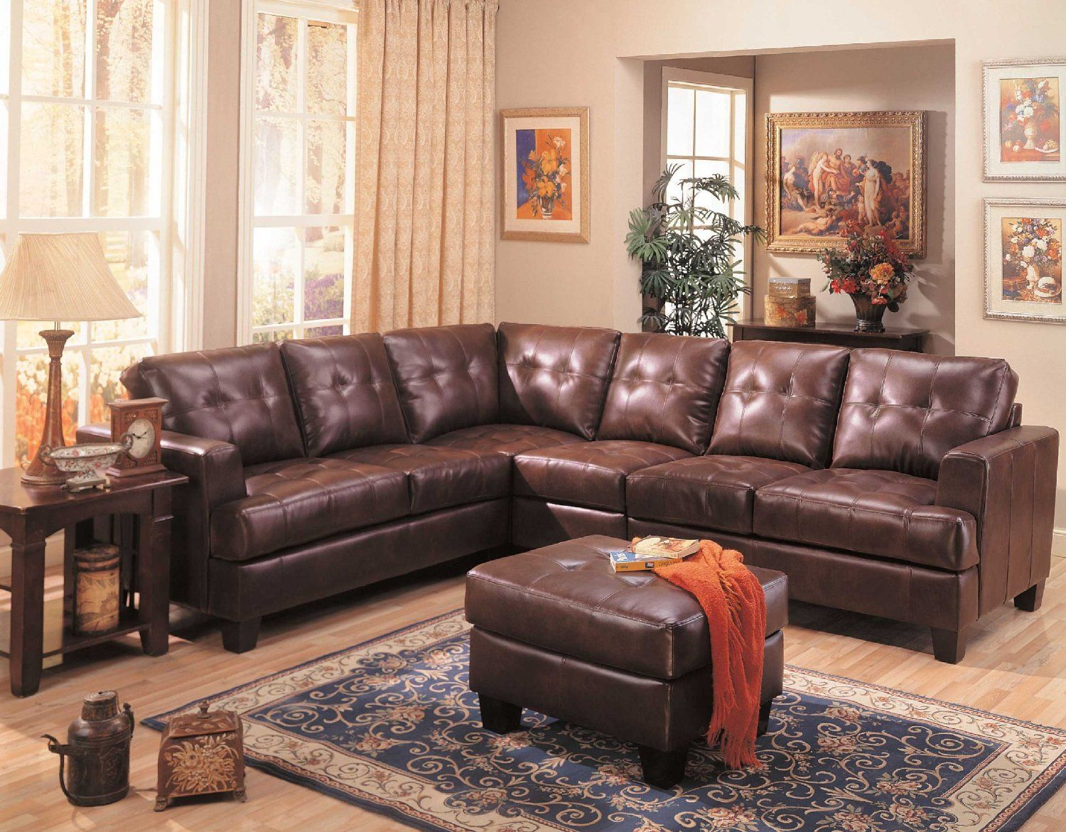 This Stunning Sectional Sofa Features Clean Lines And Attached Cushions Offering 100 Bonded Leather Piece Of Furniture Will Be The Excellent Choice