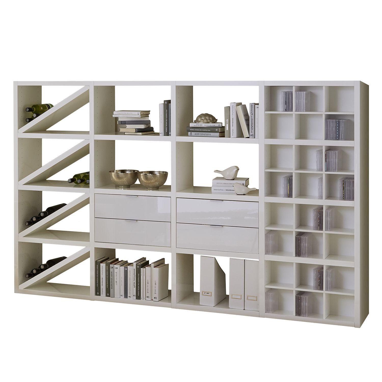 Superior Einfache Dekoration Und Mobel Jetzt Wird Es Bunt Unter Der Dusche #14: Regal Concept XII - Hochglanz Weiß, Loftscape Jetzt Bestellen Unter:  Https://