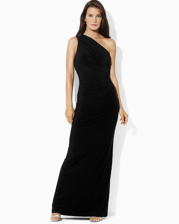 Lauren Ralph Lauren Sleeveless One Shoulder Gown | Bloomingdale\'s ...