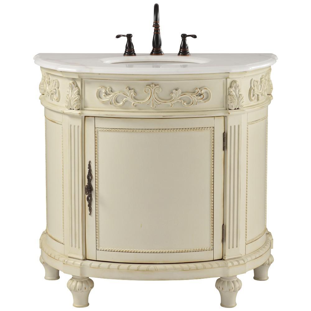 Single Bathroom Vanity, Antique White Bathroom Vanity Lights
