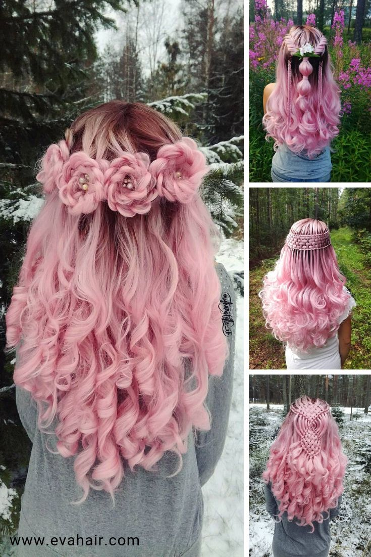 Best Seller Pinterest Color Ombre Pink Synthetic L