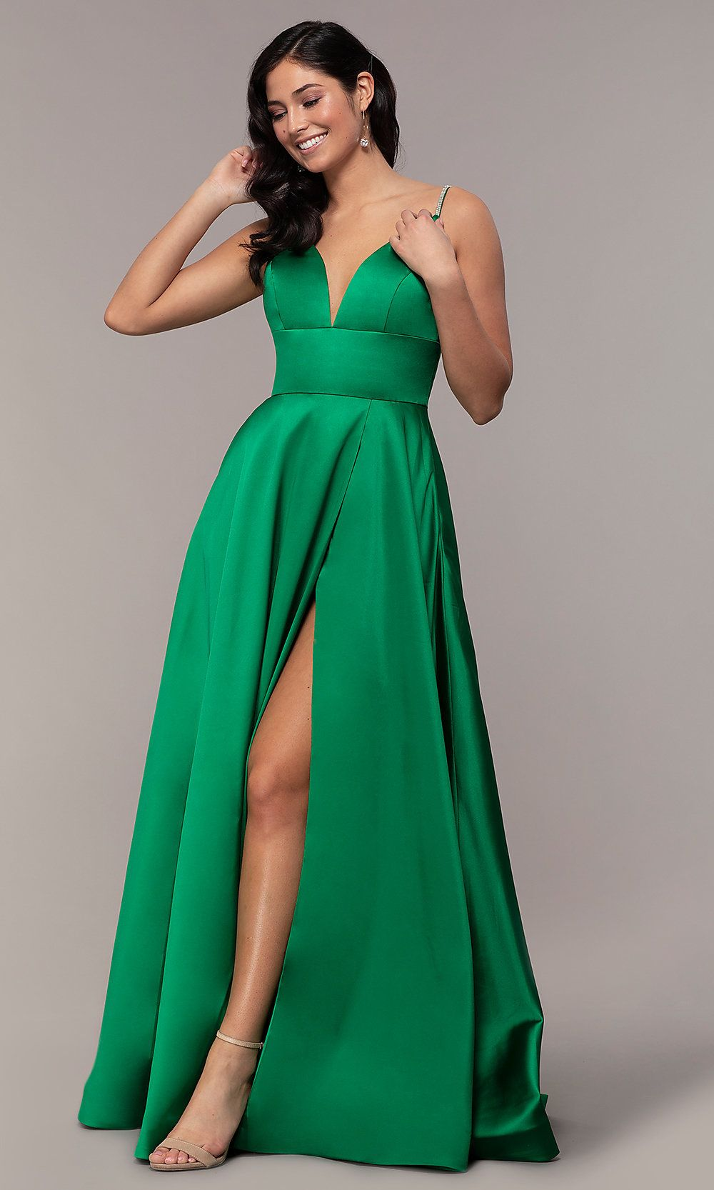 Beaded-Strap Long JVN by Jovani Formal Prom Gown   Prom ...