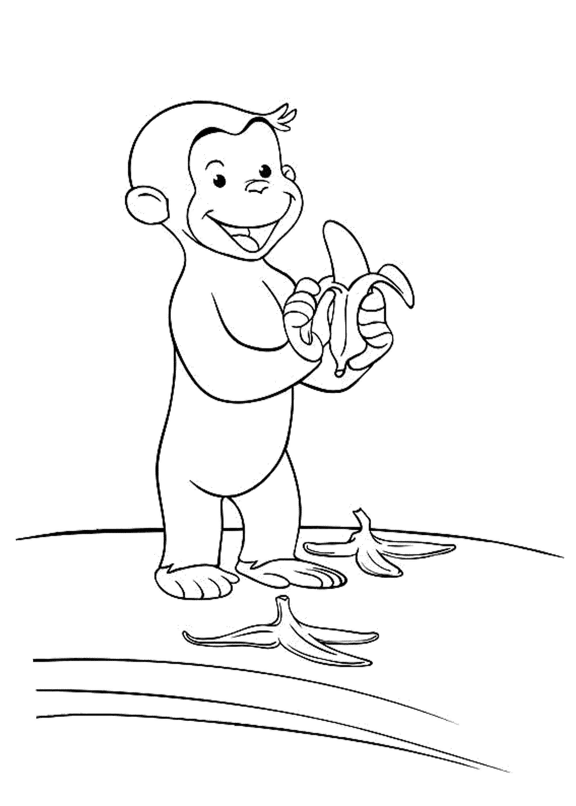 Coloring book curious george - Curious George Coloring Pages Yahoo Image Search Results