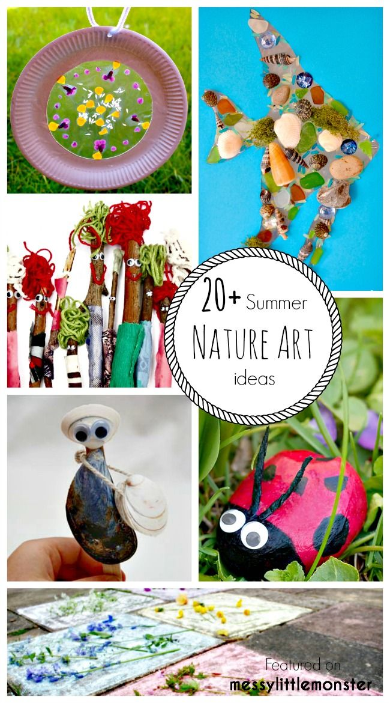 Summer Nature Art - 20 fun ideas for kids | Kid art and ...