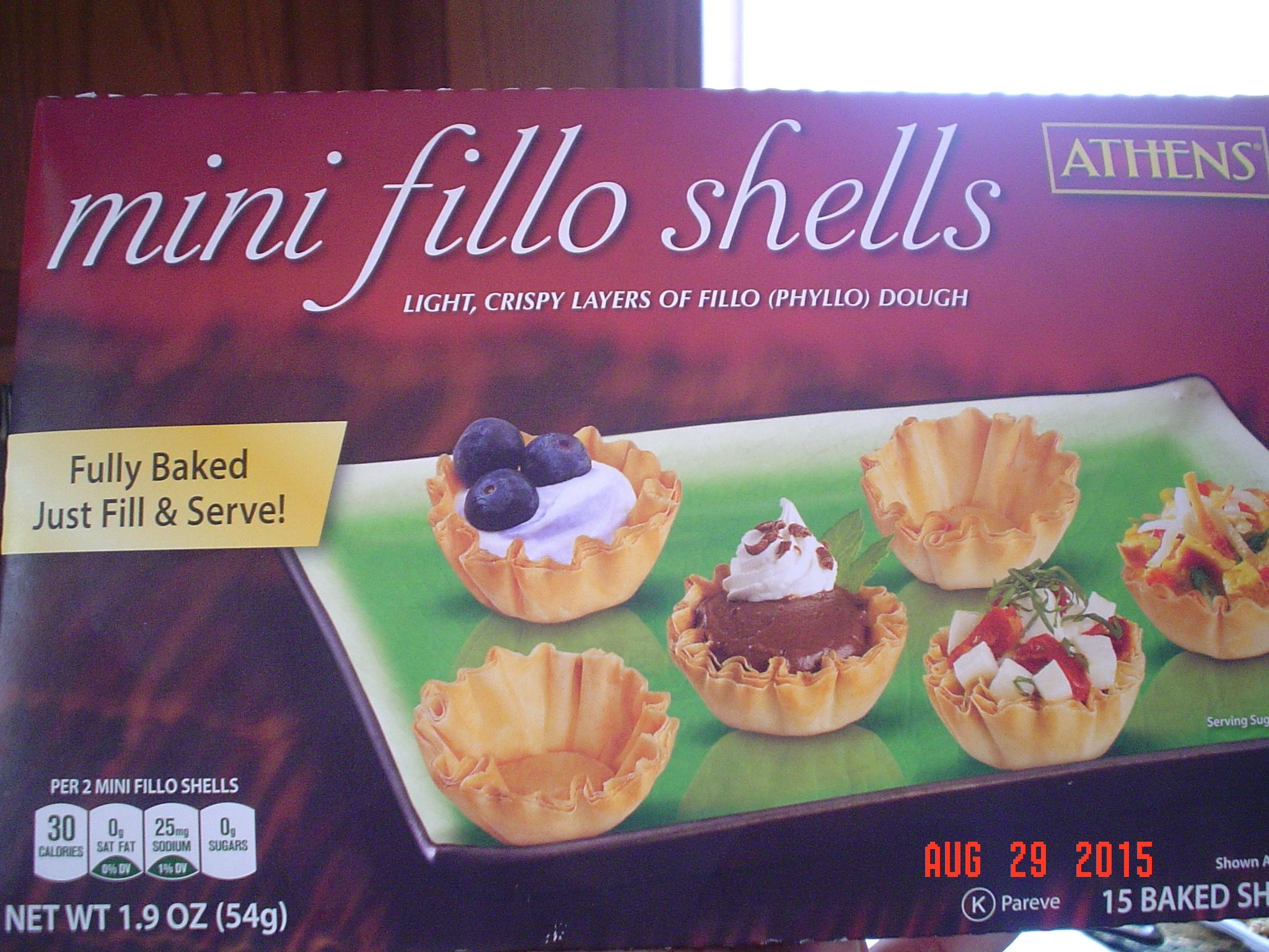 Used mini fillo shells. They are hard to find at the store.