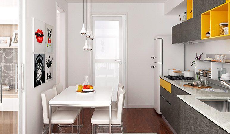 Op16 M06 10 Square Meters Straight Line Modern Style Kitchen Cabinets Design Wooden Melamine Apartment Kit Kitchen Design Small Kitchen Design Kitchen Interior