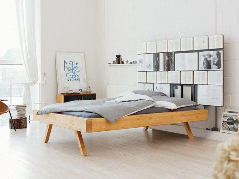 Podest mit eingelassenem bett  DIY-Anleitung: Bett mit Bücherwand selber bauen via DaWanda.com ...