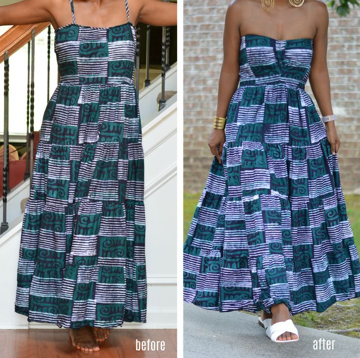 How I Refashioned An African Print Dress And Failed Thrift