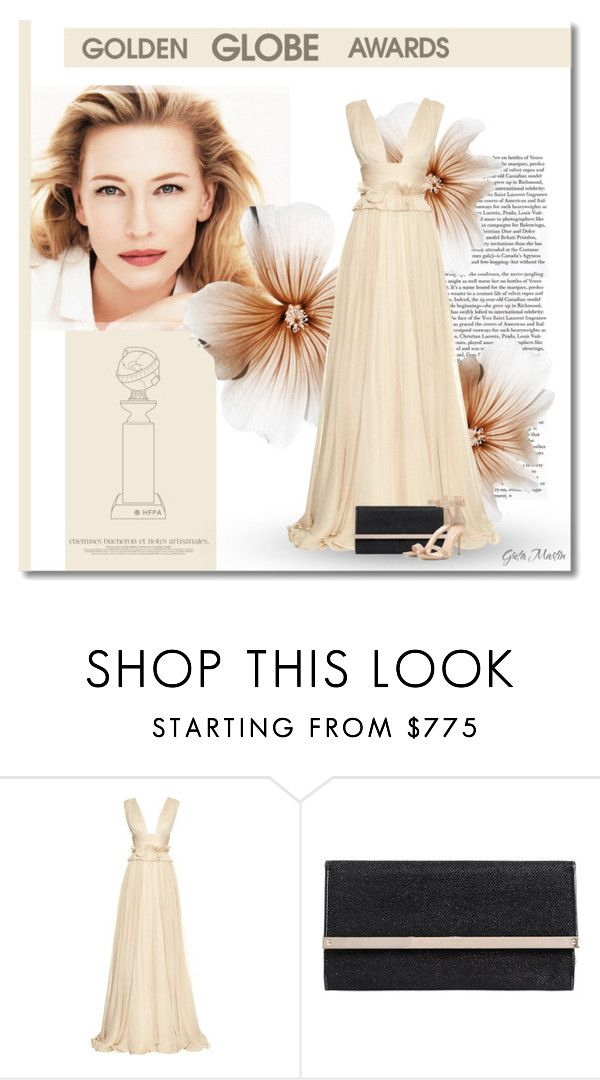 """Cate Blanchett : Dress Your Favorite Golden Globe Nominee"" by greta-martin ❤ liked on Polyvore featuring Giorgio Armani, Maria Lucia Hohan, Jimmy Choo, Gianvito Rossi, GoldenGlobes, contest, gown and cateblanchett"