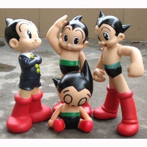 Classic Astro Boy Anime Series Toy Action Figures 4 Set