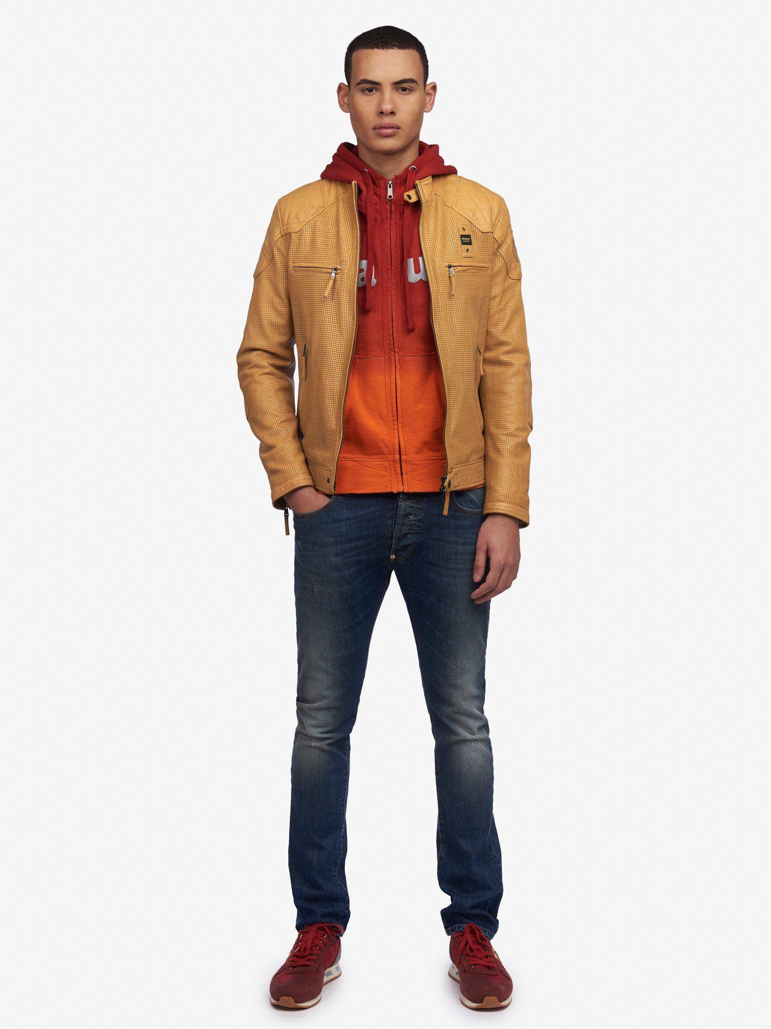 Mens Blauer Leather Jacket Shop Online Blauer USA