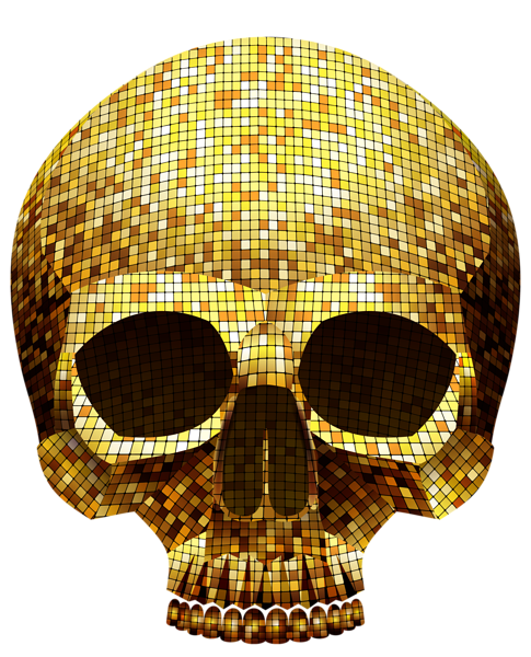 Golden Skull Png Clipart Image Skull Clipart Images Clip Art