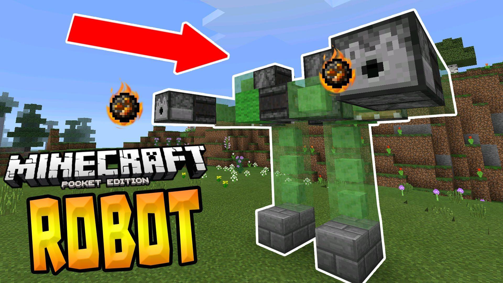 WALKING ROBOT in MCPE!!! - 1 0+ Redstone Creation - Minecraft PE
