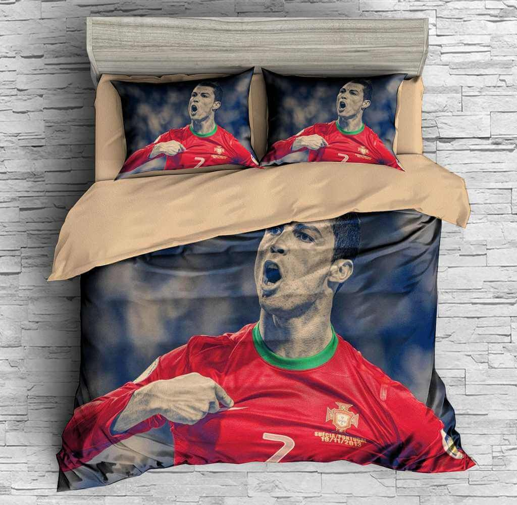 Cr7 Bettwäsche - 3d Customize Cristiano Ronaldo Bedding Set Duvet Cover Set Bedroom
