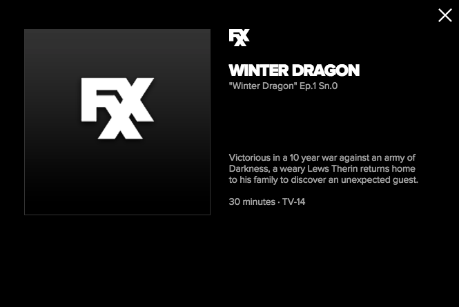 Winter Dragon FXX yazısı