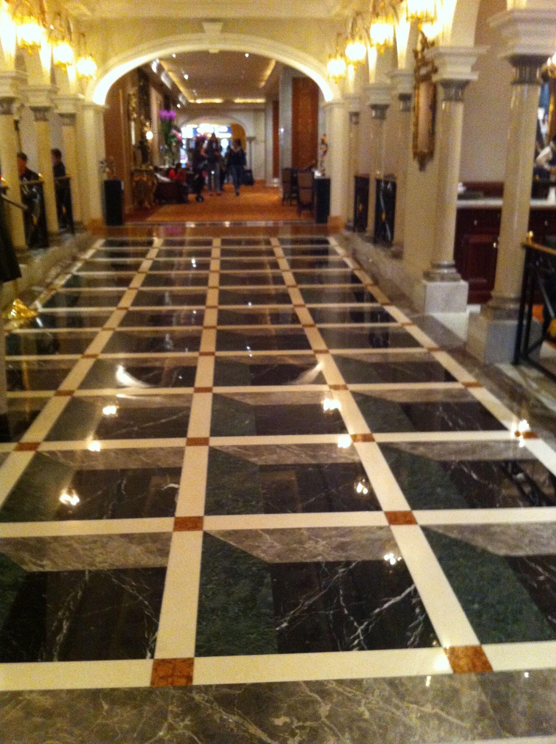 Beautiful 3D floor in a New York Hotel Epoxy floor, 3d