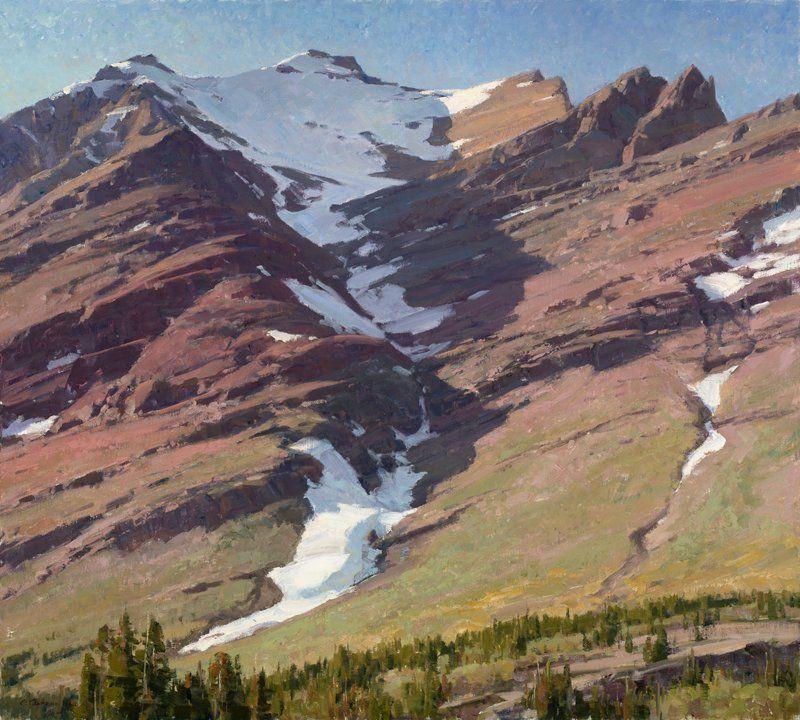 Mt Henkel Glacier National Park 36x40 Inches Oil By Clyde Aspevig Western Landscape Landscape Artist Clyde Aspevig