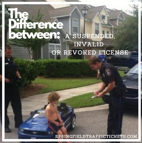 Difference Between A Suspended License, Invalid License and