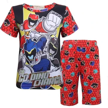 Kids Pajamas Power Ranger Pattern Home Dress in 2020
