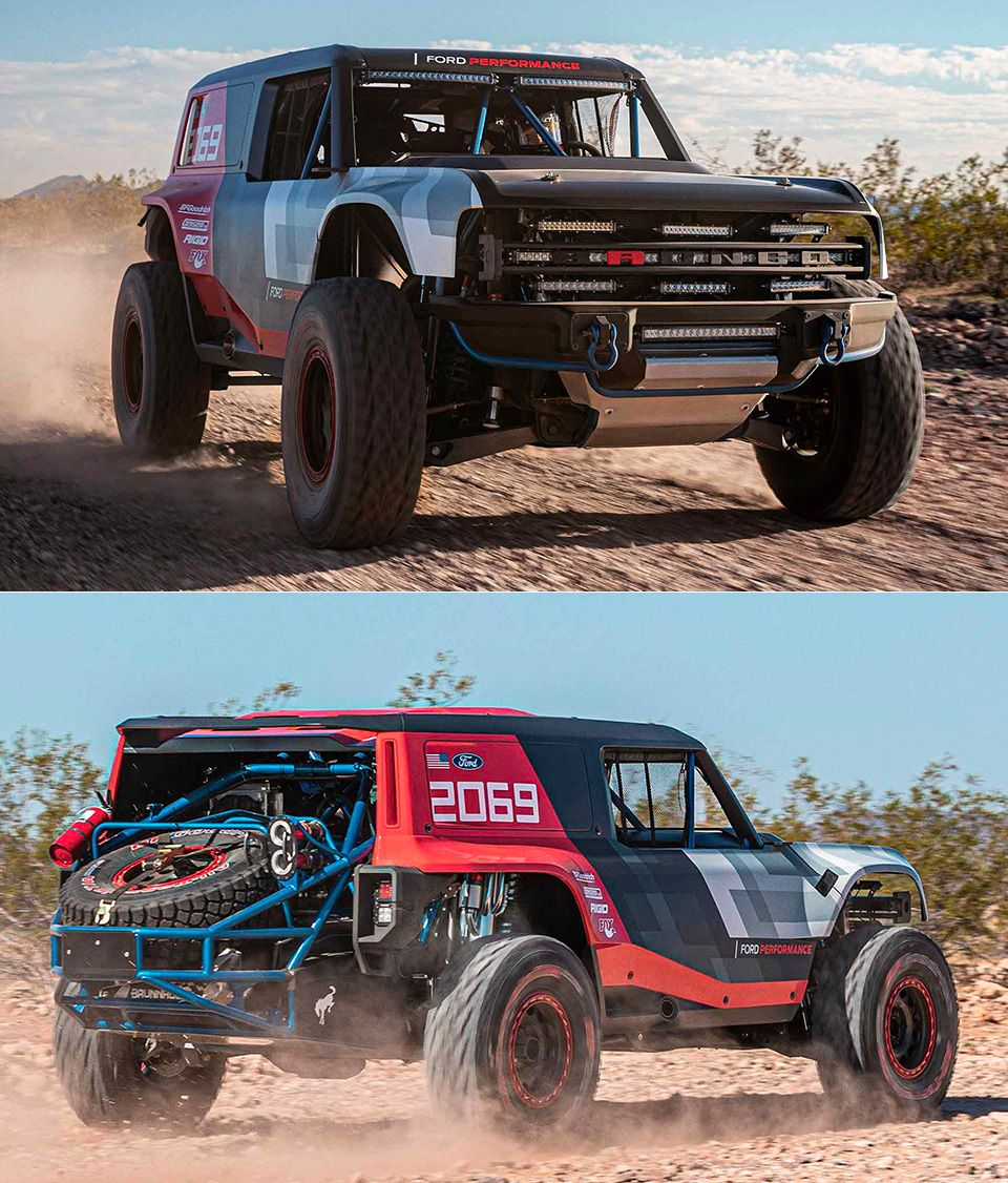 Ford Bronco R Race Prototype Unveiled Previews 2020 Production