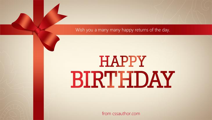 Wish you a many many happy returns of the day happybirthday – Birthday Wishes Card