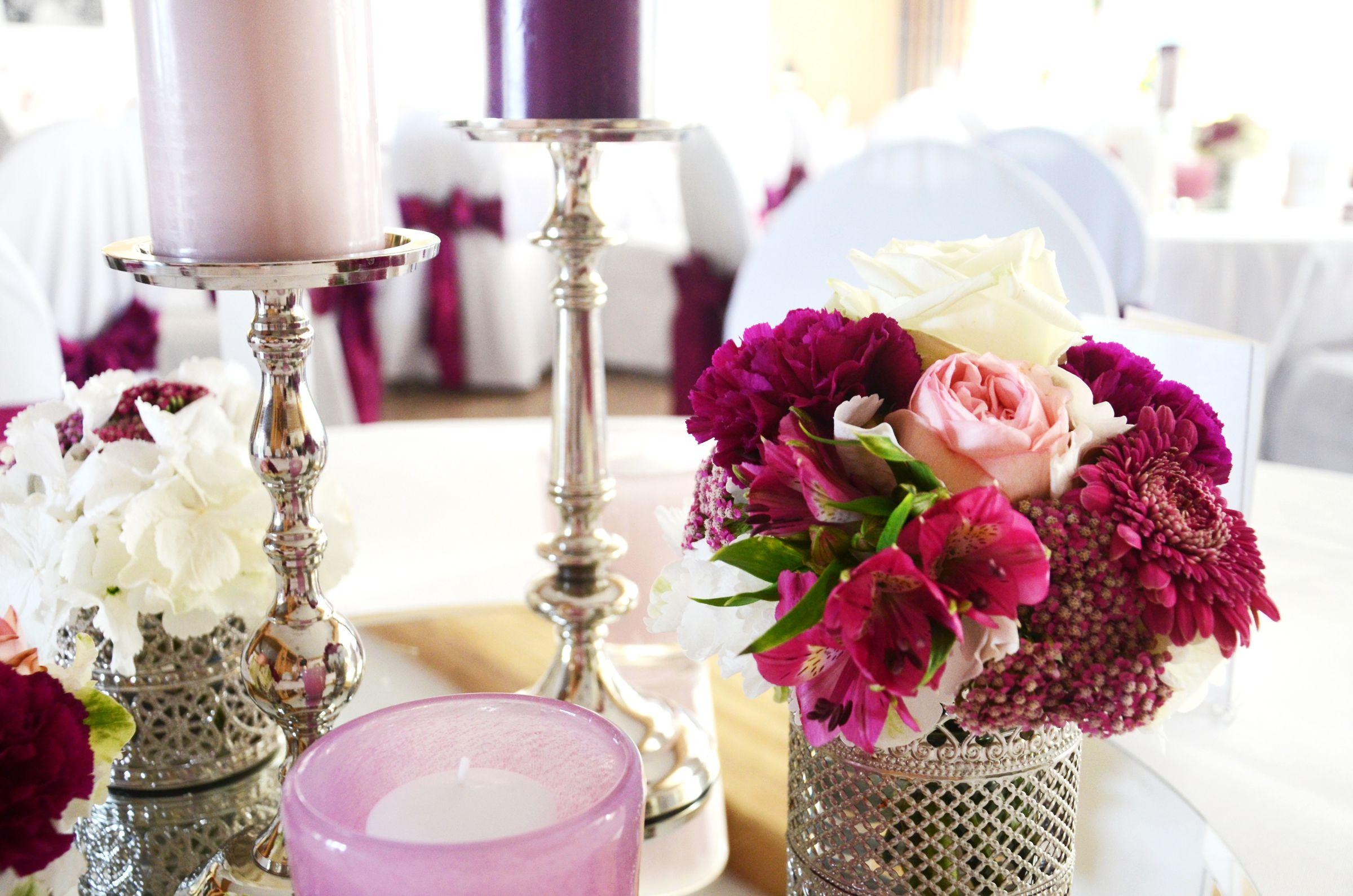 Tischdekoration Hochzeit Flieder Blumen Hochzeit Heiraten