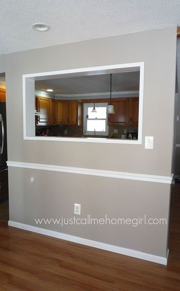 Creating a pass through in our wall painting walls living room ideas and kitchen design for Pass through kitchen ideas