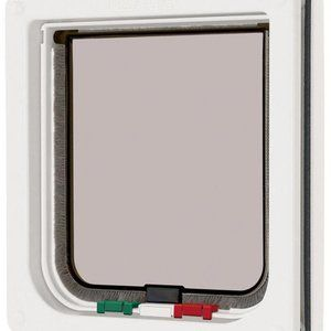 Brand New Small Medium Large Pet Cat Door Lockable Magnetic 4 Way Cat Dog Safe Flap Door Security Gate Plastic: gbk …