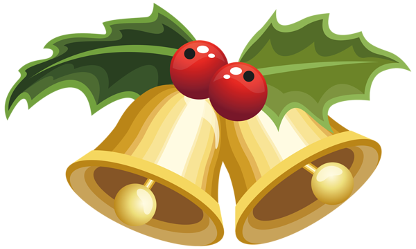 Christmas Bells With Mistletoe Png Clipart Image Christmas Bells Mistletoe Clipart Mistletoe