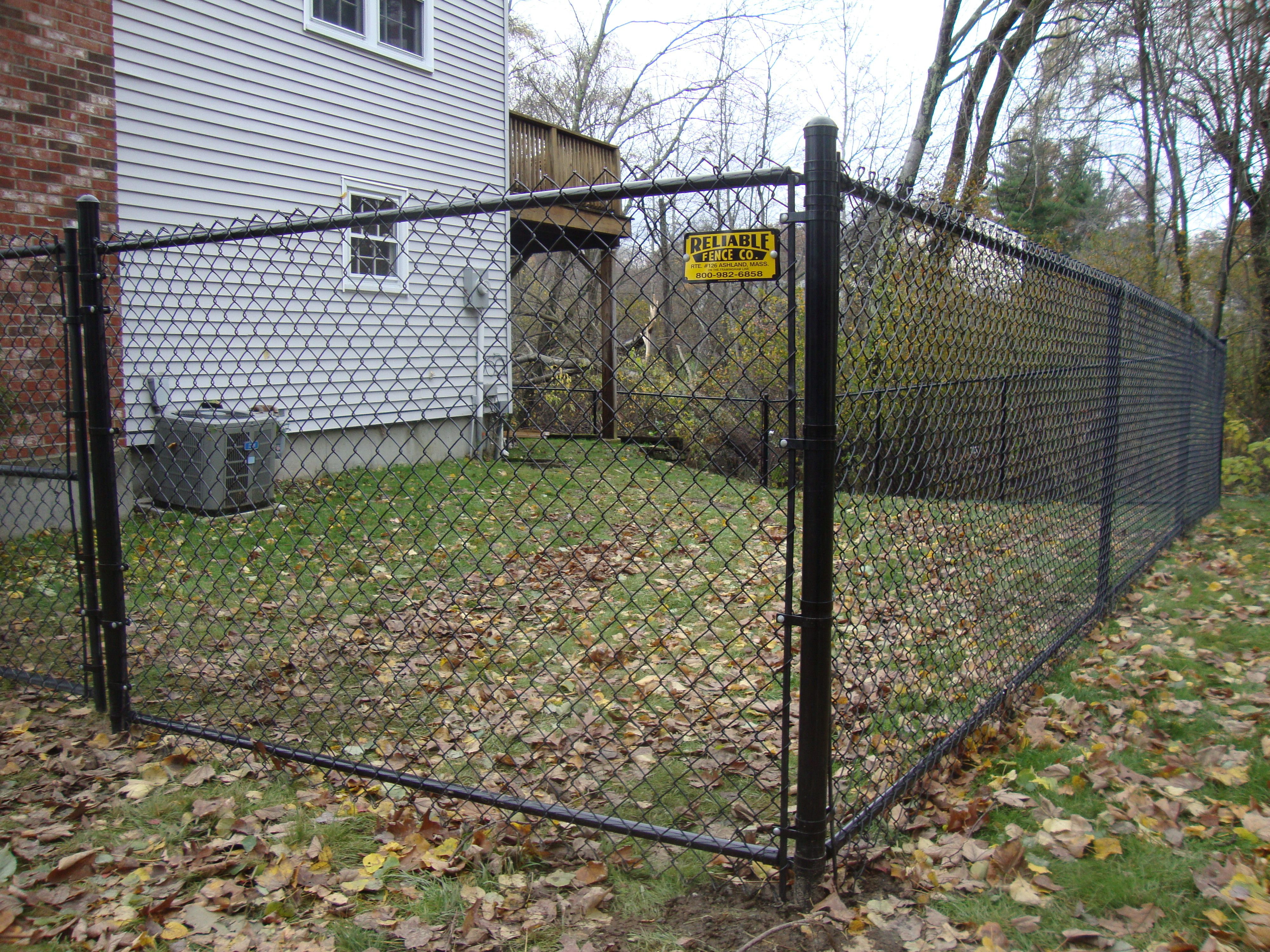 All Vinyl Black Chain Link Fence Black Chain Link Fence