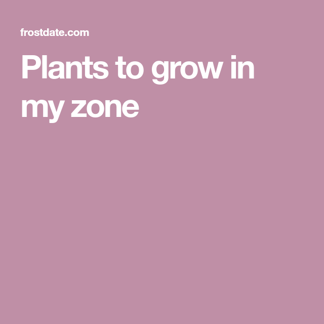 Plants To Grow In My Zone