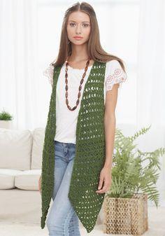 fashion long vest crochet