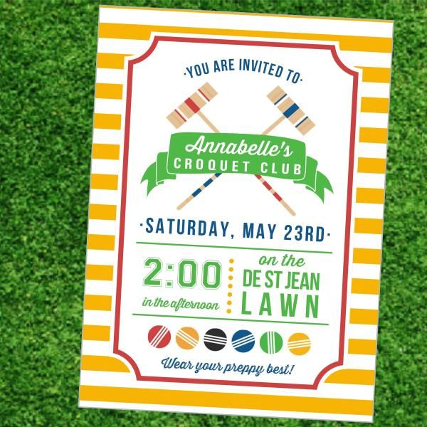 lawn games summer party croquet club – Summer Party Invitation Ideas
