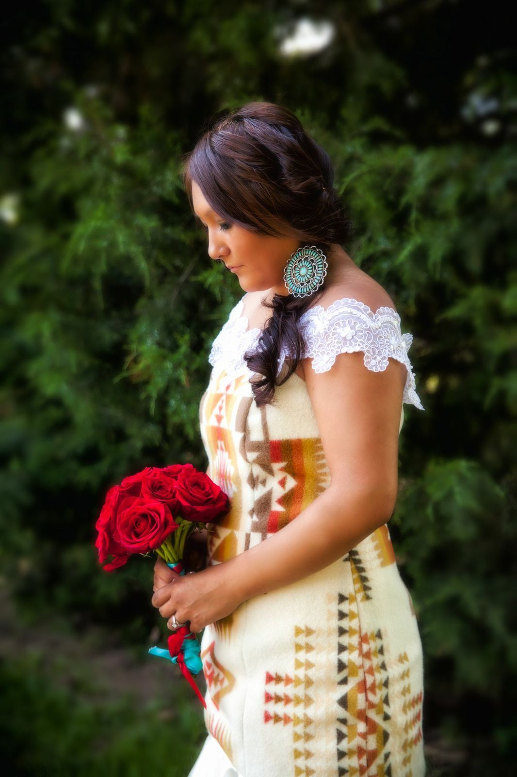 Navajo Pendelten Wedding Dress Native American Wedding Dress