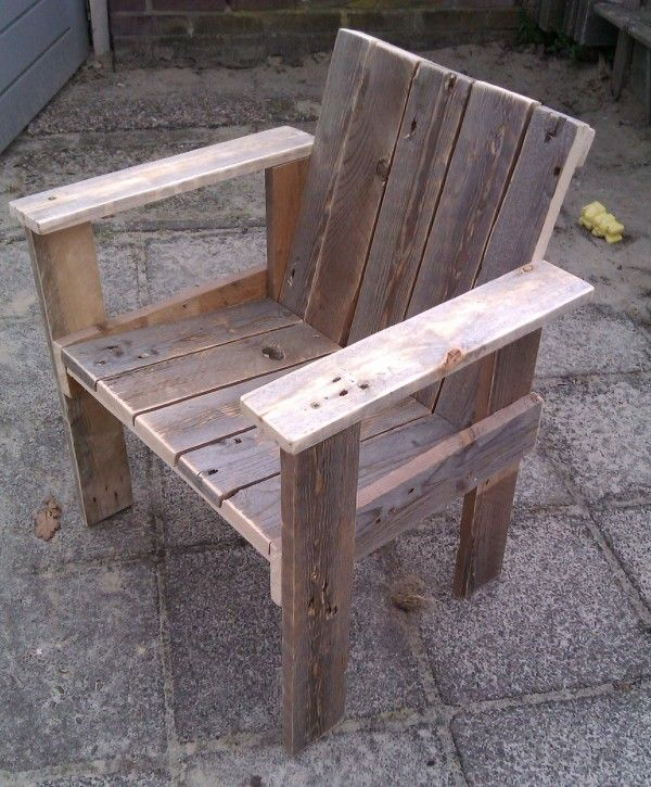 Little Child Pallet Chair | Bancos, Palets y Madera