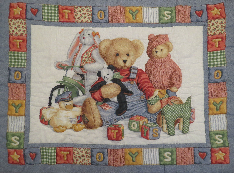 Vintage Teddy Bear Crib Comforter Vintage Teddy Bears Crib