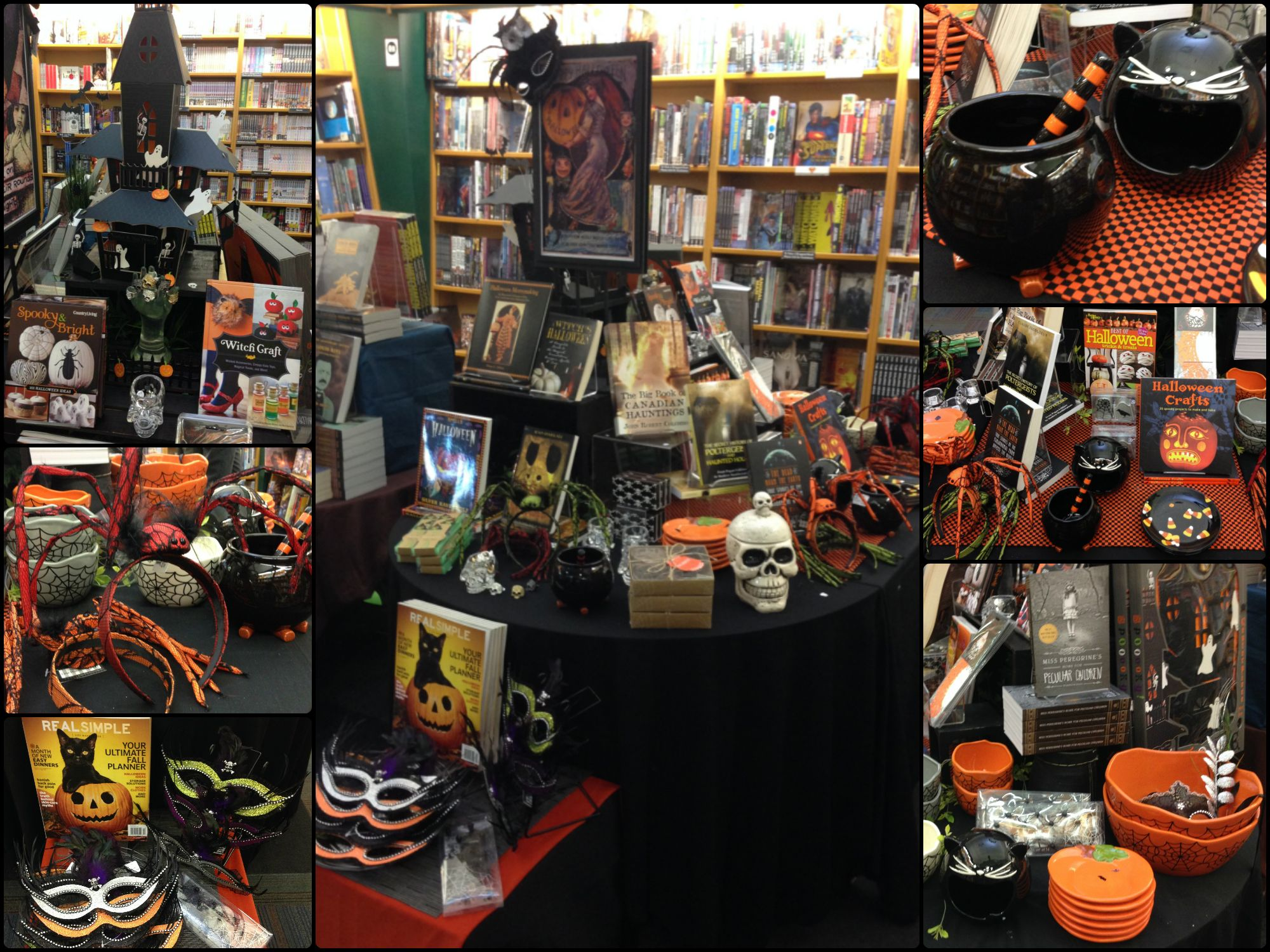 If You D Like To See All Of Our Halloween Themed Giftware And Books We Recommend Stopping By Your Nearest M Halloween Displays Halloween Themes Bookstore Cafe