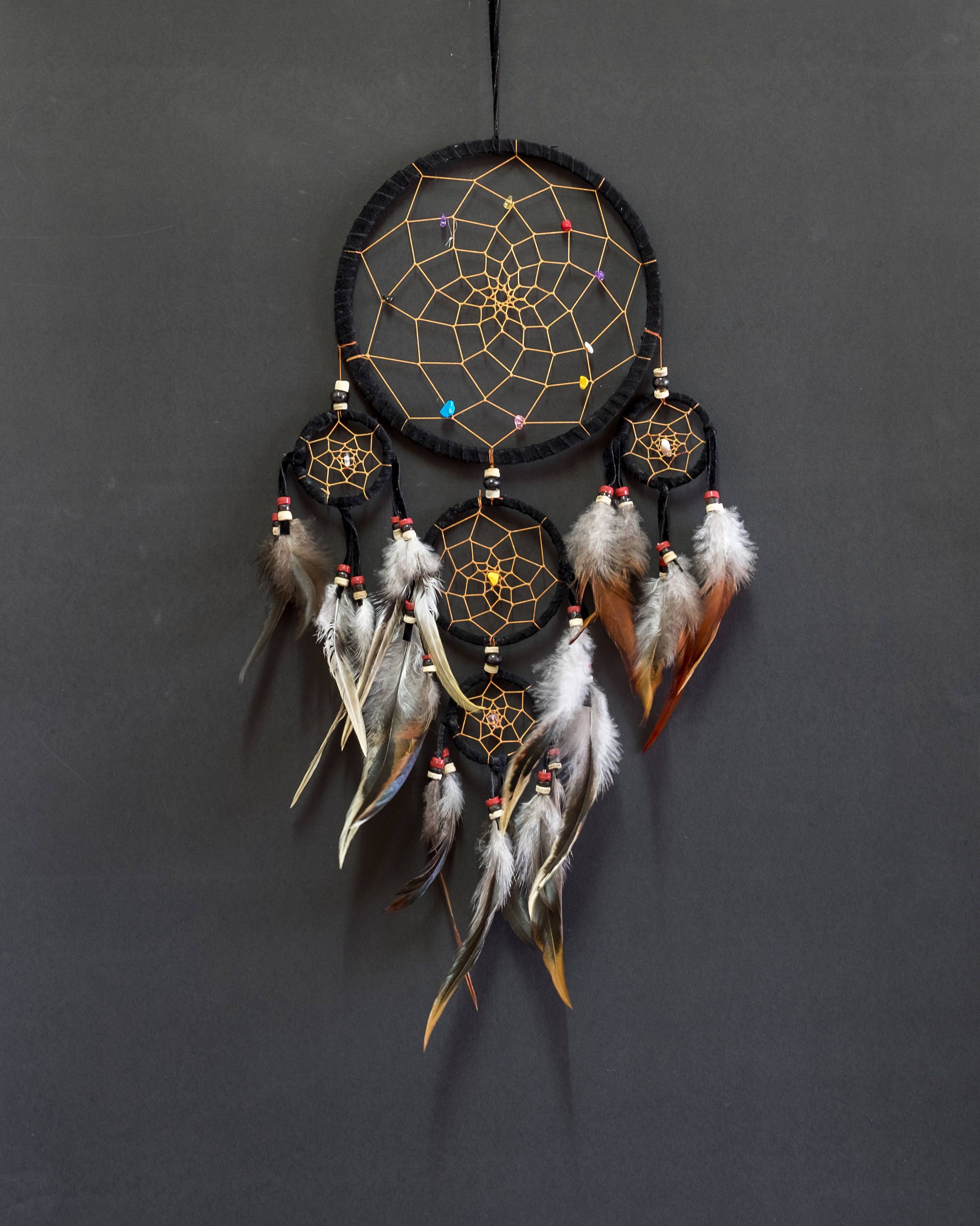 Dream Catcher wall hanging decoration ornament feathers bead feather long 22 /""