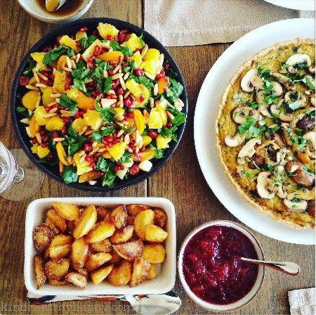 Sehr Mon menu de Noël vegan sans gluten. Cuisine saine, healthy  NN47